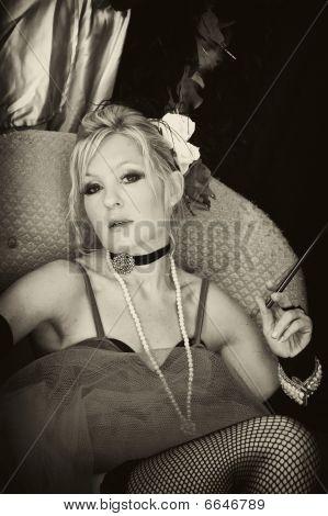 Sepia Saloon Girl