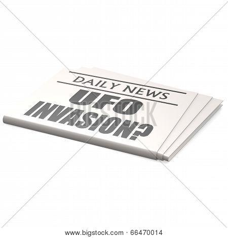 Newspaper Ufo Invasion