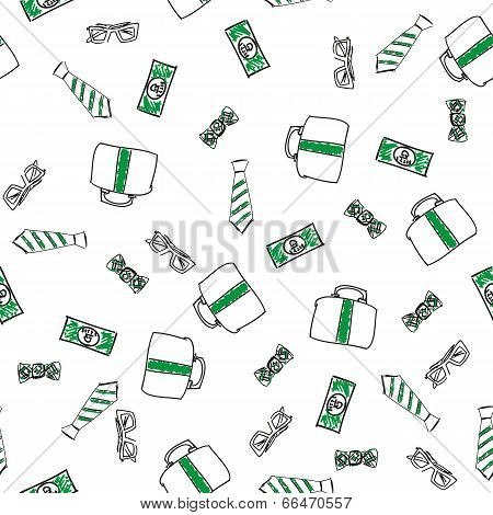 Money abstract seamless background