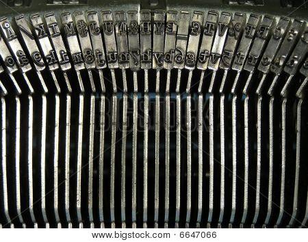 Typewriter's typebars