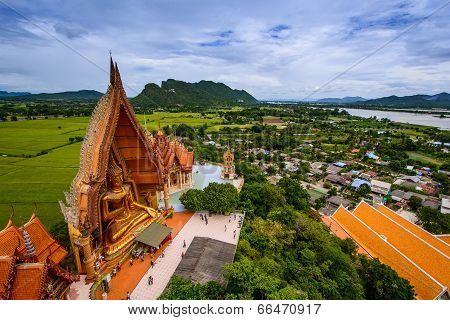 Budda Statue Of Buddhist Temple In Thailand