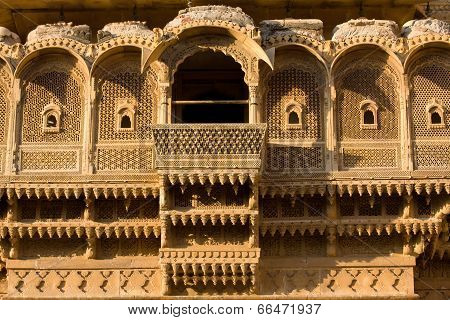 Haveli In Jaisalmer, Rajasthan, India
