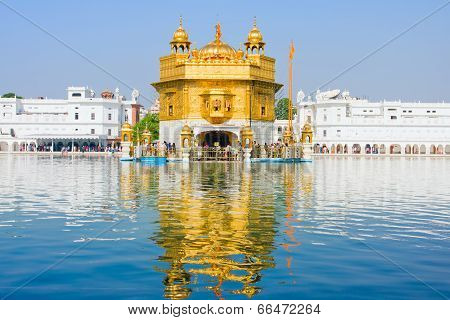 Amritsar, India - October 18: Sikh Pilgrims In The Golden Temple During Celebration Day In October 1