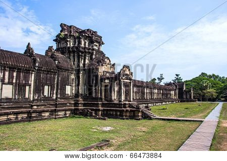 Siem Reap, Cambodia - May 3, 2014: Tourist travel the ancient temple Of Angkor Wat.