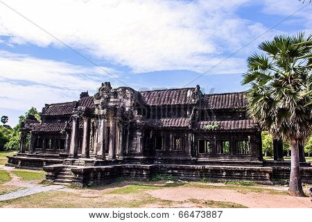 Siem Reap, Cambodia - May 3, 2014:  Tourist travel the ancient temple of Angkor Wat