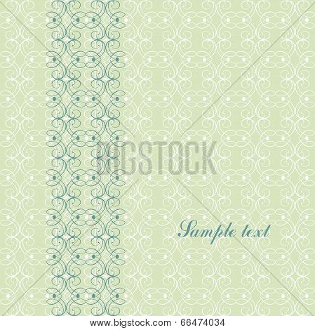 Ornamental Pattern Template For Design. Page Cover, Invitation With Floral Ornaments