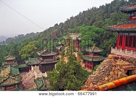 Beautiful Buildings At Longevity Hill In Summer Palace, Beijing, China.