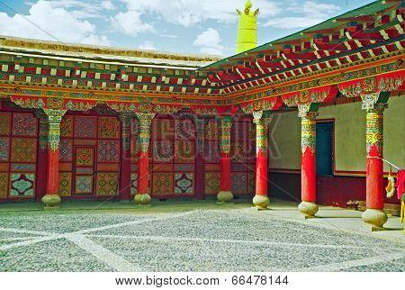 Entrance To A Tibetan Gompa