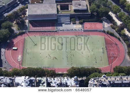 Aerial View Of A Practice Field