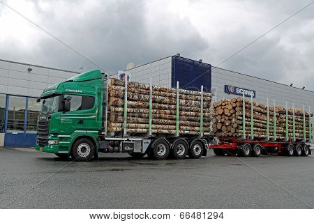 Scania R730 Euro 6 V8 Timber Truck