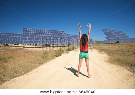 Arms Up And Solar Panels