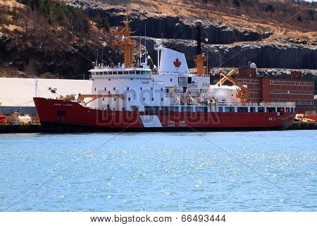 Ccgs Henry Larsen Ready For Rescue Operations