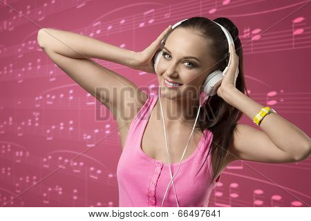 Young Girl With Headphones