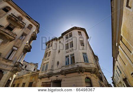 Vintage Building In Old Havana Street