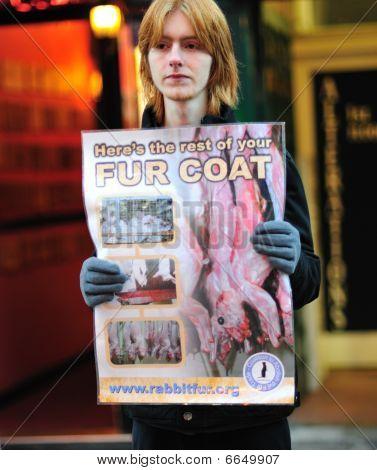 Anti-Fur Protests in Dublin City