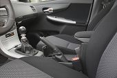 pic of seatbelt  - Car interior with back seats - JPG