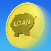pic of borrower  - Loan Gold Coin Meaning Credit Borrowing Or Investment - JPG