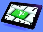 picture of miniature golf  - Golf Key Tablet Meaning Golfer Club Or Golfing - JPG