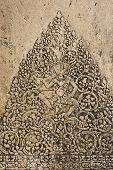 stock photo of rock carving  - Stone carving Apsara dance in Angkor Wat at Cambodia  - JPG