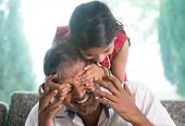 foto of daddy  - Happy Indian family at home - JPG