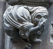 pic of gargoyles  - Gothic gargoyle on New Town Hall  - JPG