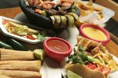 pic of mexican  - Horizontal shot of a variety of Mexican dishes - JPG