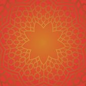 stock photo of iranian  - Persian pattern in red color - JPG