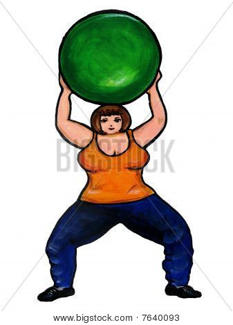 Plus Size Aerobics Ball