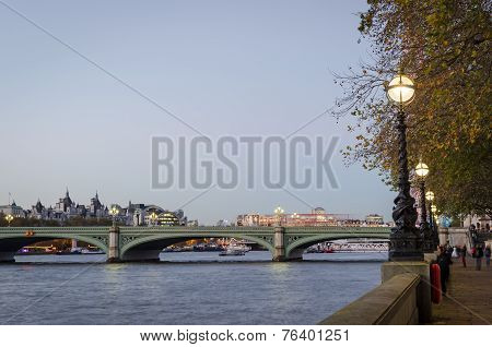London, Westminster Bridge And Riverfront