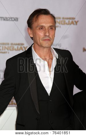 m LOS ANGELES - NOV 17:  Robert Knepper at the The Hunger Games: Mockingjay Part 1 Premiere at the Nokia Theater on November 17, 2014 in Los Angeles, CA