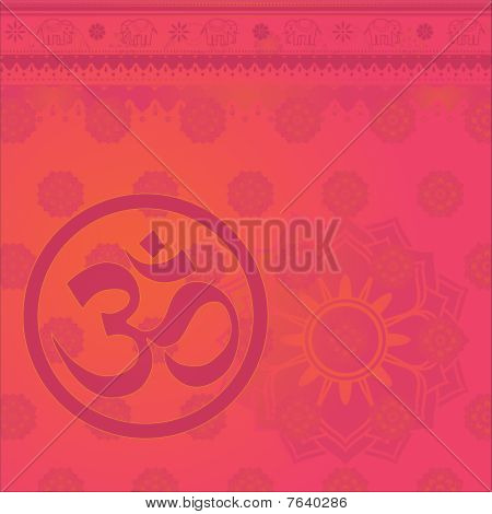 Om Indian Background