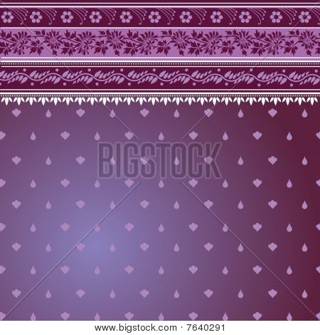 Purple Sari Pattern