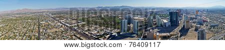 Panorama Of Las Vegas City With Suburb