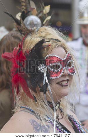 Mascarade At Mardi Gras
