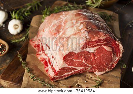 Raw Grass Fed Prime Rib Meat