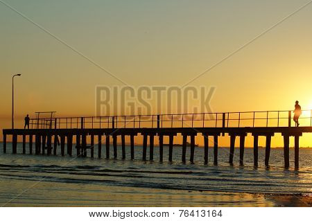 Sunset over Pier