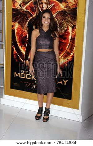 m LOS ANGELES - NOV 17:  Alexys Gabrielle Johns at the The Hunger Games: Mockingjay Part 1 Premiere at the Nokia Theater on November 17, 2014 in Los Angeles, CA
