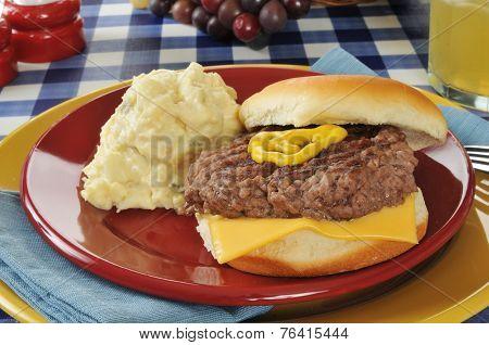 Cheeseburger And Potato Salad
