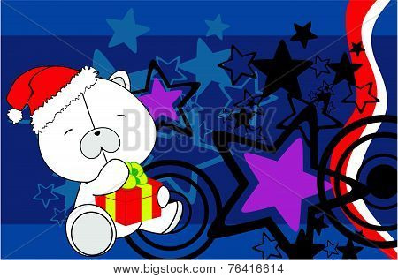 polar bear baby cartoon xmas background2