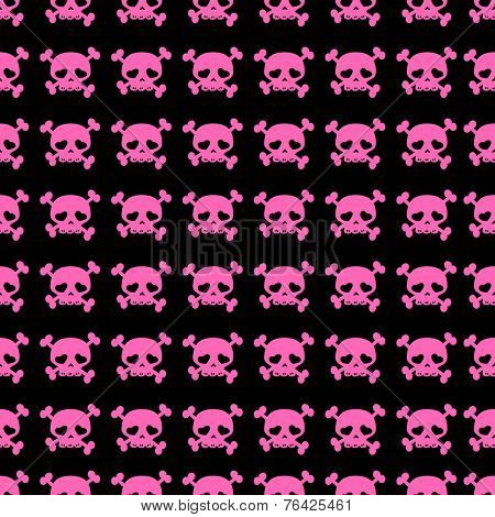 skulls on crossbones seamless pattern