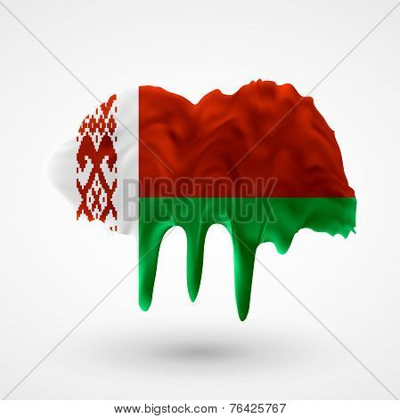 Flag of Belarus painted colors