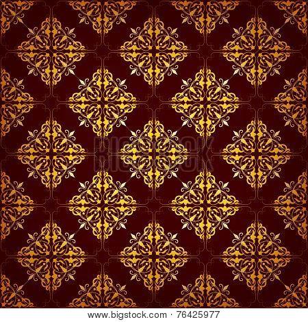 Seamless Pattern With Ethnic Motifs