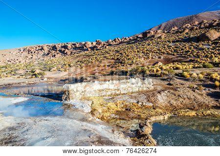 Landscape At El Tatio Geyser