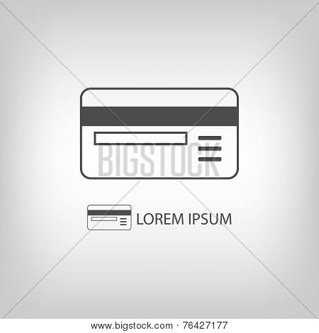 Grey plastic card
