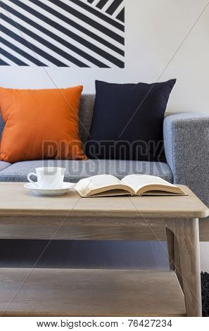 sofa and pillow in living room interior decoration