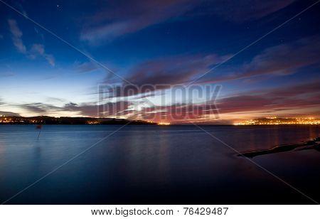 Sunset At Obidos Lagoon