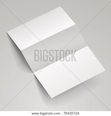 Blank Tri-fold Brochure Template