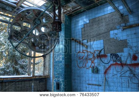 Operating Theater In An Abandoned Hospital In Beelitz