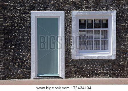 Cottage Doorway And Window. Rottingdean. England