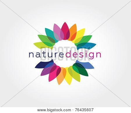 Abstract flower vector logo icon concept. Logotype template for branding